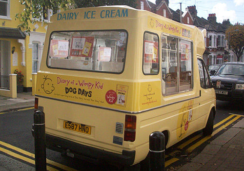 Icecream van at product give away