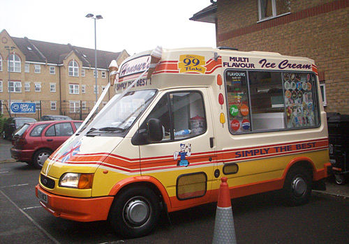 Ice cream van at wedding party south east london