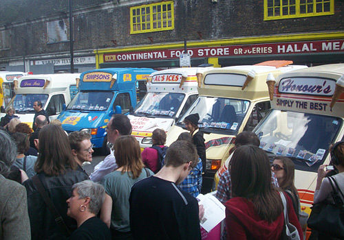 Fleet icecream vans performing in london