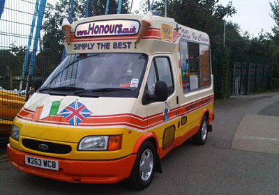 Honours ice cream van