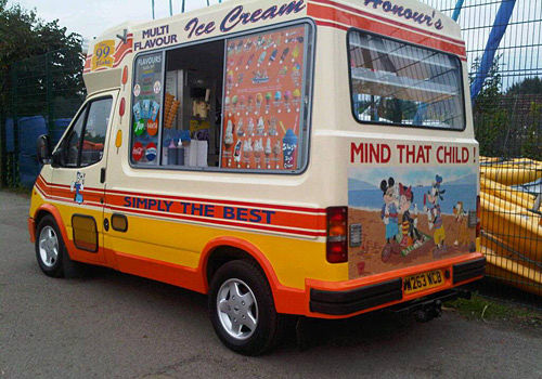Honours ice cream van in west london