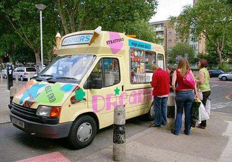 ice cream van serving soft ice cream 99