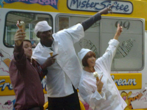 The One Show usain Bolt and ice cream vans