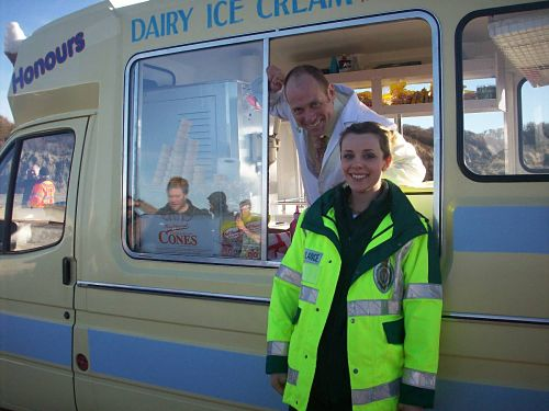 Ice cream van in Tv film Casualty