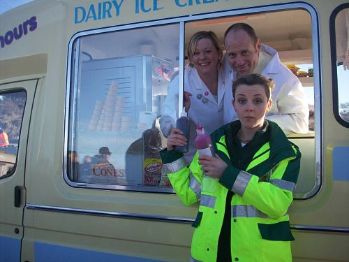 Ice cream van for filming the tv program Casualty