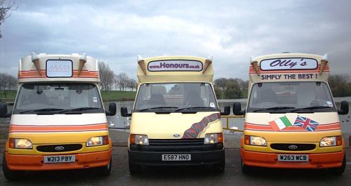 Ice cream van hire for tv film