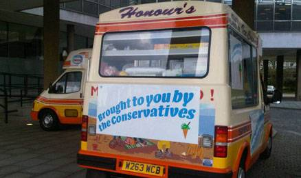 Conservative party ice cream vans