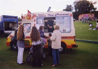 ice cream van at summer event