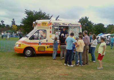 icecream van & customers