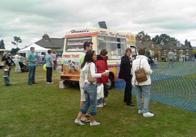 ice cream van at Village annual event