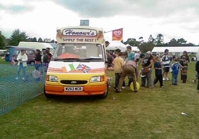 ice cream van & stalls at event