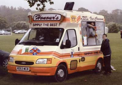 icecream van hire at football tournament