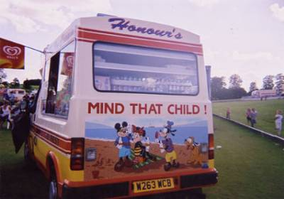 ice cream van at event
