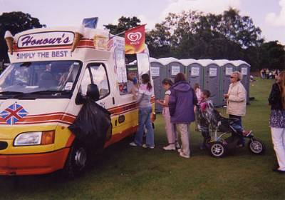 ice cream van at Festival