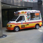 Ice cream vans at corporate event in London 2012