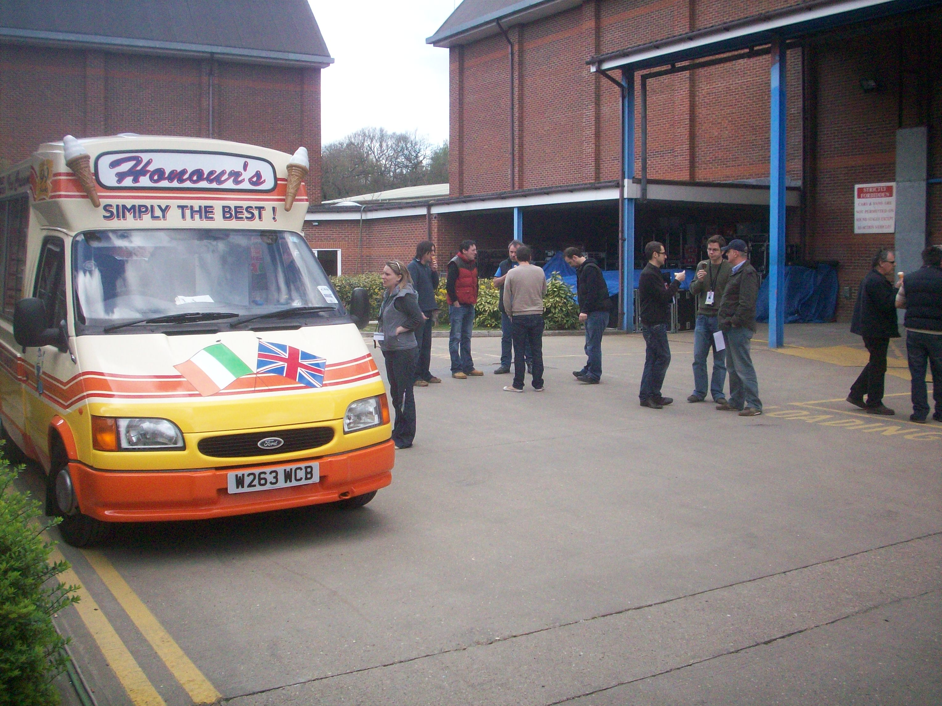 Serving ice cream corporate hire
