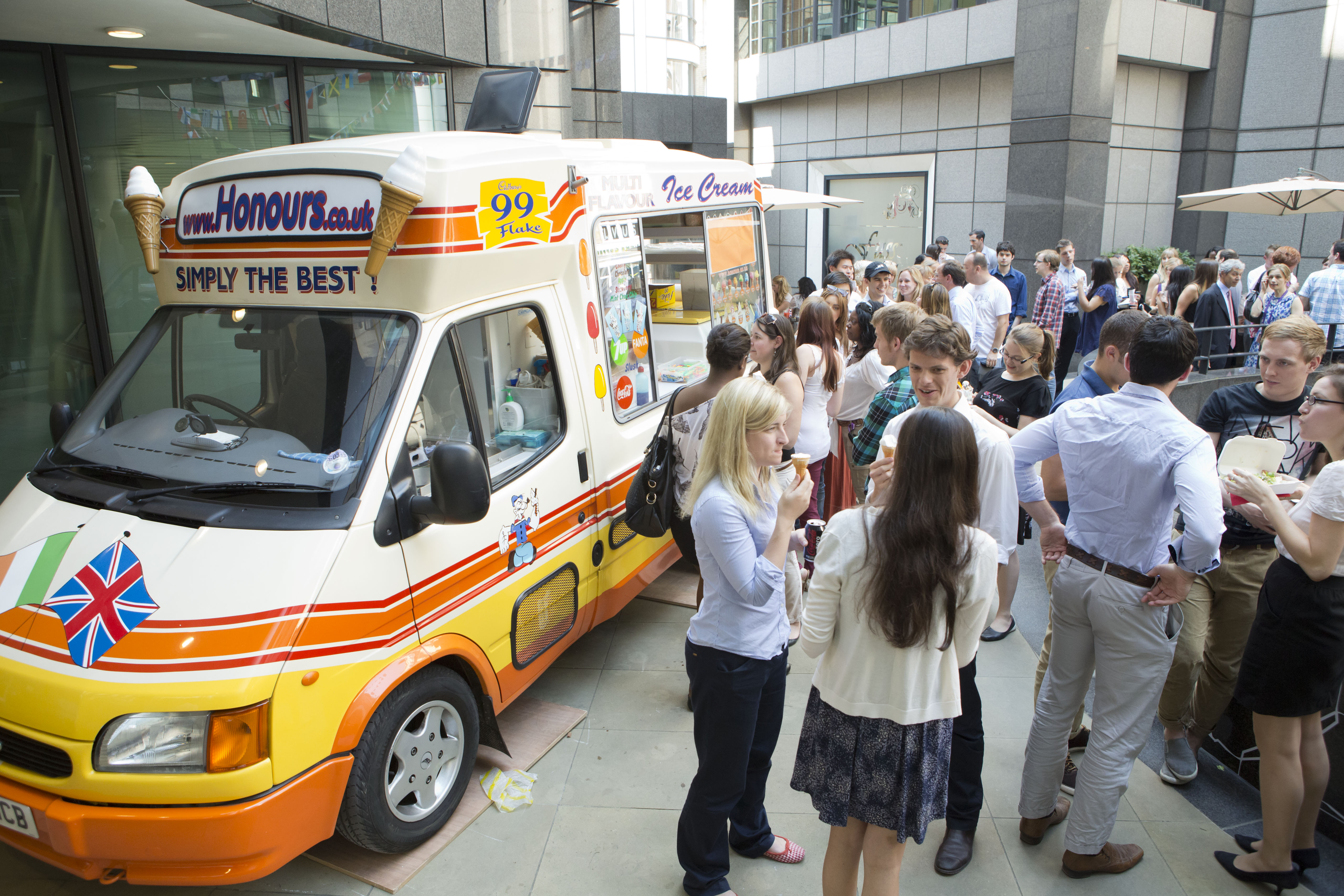 Promotional ice cream van for hire