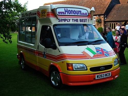 Ice cream van hire Kent wedding party hire