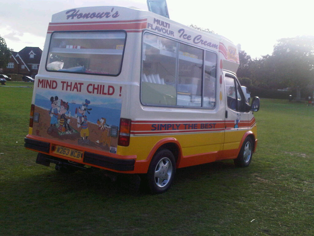 Ice cream  van for hire Kent Tunbridge Wells fete
