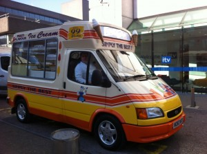 Ice cream van hire London ITV