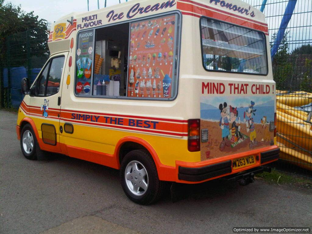 Honours Ice Cream van for hire at event