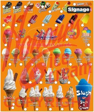 Honours full multi flavoured ice cream menu