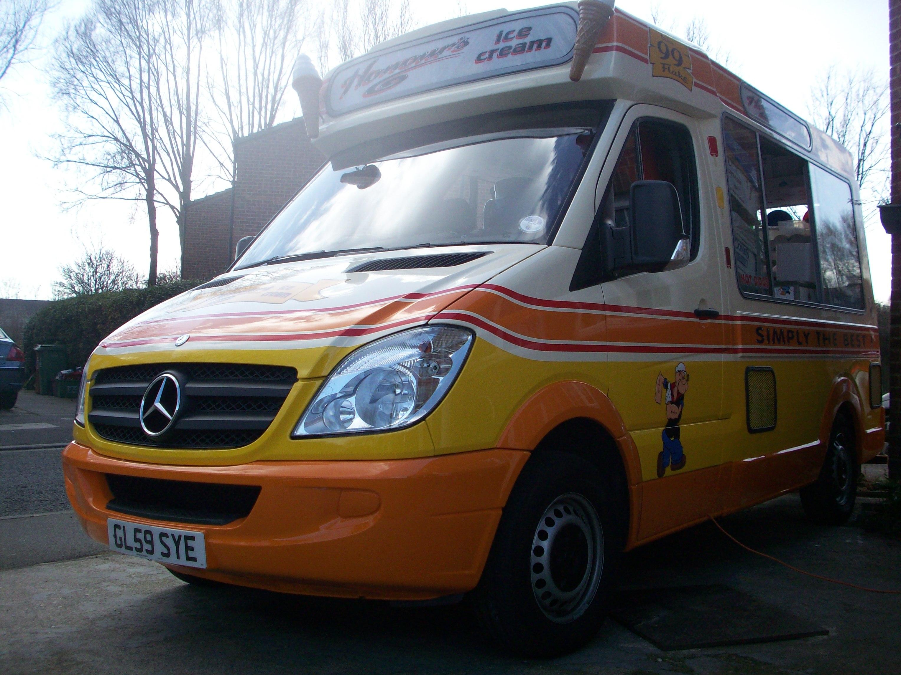 Honours Sprinter ice cream van converted 2012 Whitby Morrison